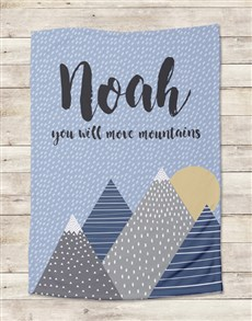 gifts: Personalised Move Mountains Bed Set!