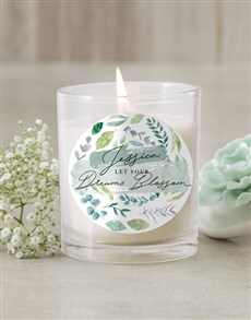 gifts: Personalised Blossom Candle!
