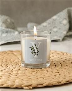 gifts: Personalised Botanic Name Candle!