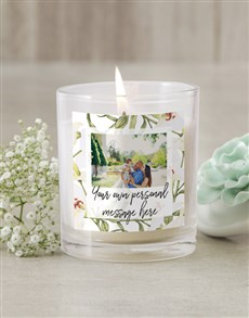 gifts: Personalised Lily Photo Candle!