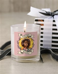 gifts: Personalised Photo Wreath Candle!