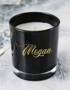 gifts: Personalised Foil Name Candle!