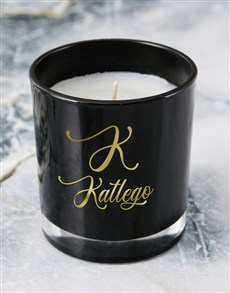 gifts: Personalised Foil Initial Candle!