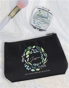 gifts: Personalised Blossom Cosmetic Bag!