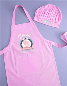 gifts: Personalised Baked With Love Kids Apron!
