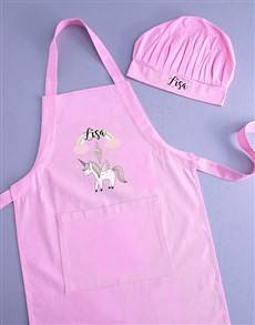 gifts: Personalised Unicorn Kids Apron!