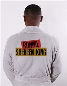 gifts: Personalised Shebeen King Grey Gown!