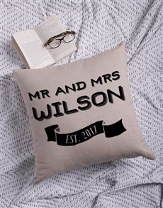 gifts: Personalised Mr and Mr Scatter Cushion!