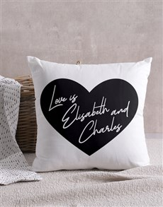 gifts: Personalised Heart Message Scatter Cushion!