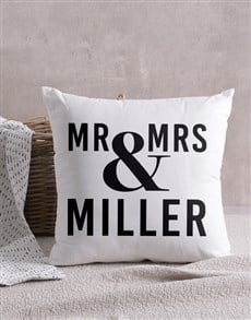 gifts: Personalised Mr & Mrs Scatter Cushion!