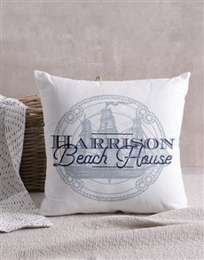 gifts: Personalised Beach House Scatter Cushion!