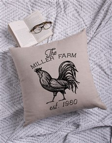 gifts: Personalised Farm Scatter Cushion!