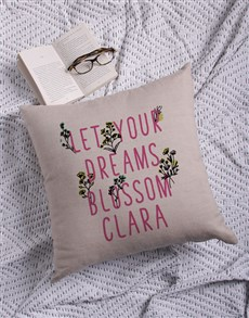 gifts: Personalised Floral Blossom Scatter Cushion!