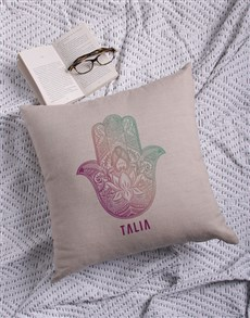gifts: Personalised Hamsa Scatter Cushion!