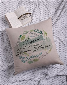 gifts: Personalised Dreams Blossom Scatter Cushion!