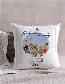 gifts: Personalised Crazy Family Photo Scatter Cushion!