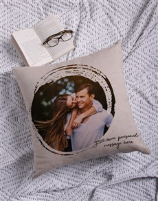 gifts: Personalised Circle Photo Scatter Cushion!