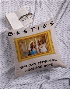gifts: Personalised Besties Photo Scatter Cushion!