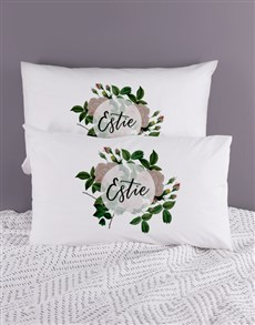 gifts: Personalised Roses Pillowcase Set!