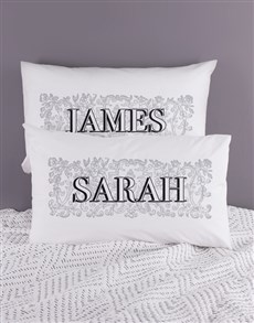 gifts: Personalised Name Scroll Pillowcase Set!