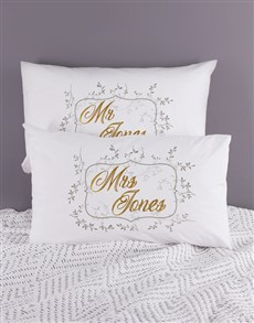gifts: Personalised Ditsy Leaf Pillowcase Set!