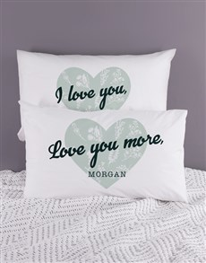 gifts: Personalised Love Your Heart Pillowcase Set!