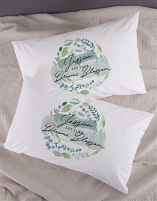 gifts: Personalised Dreams Blossom Pillowcase Set!