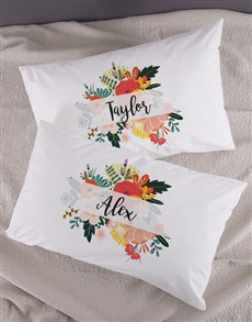 gifts: Personalised Bright Floral Pillowcase Set!
