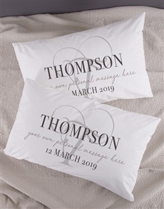 gifts: Personalised Classic Initial Pillowcase Set!