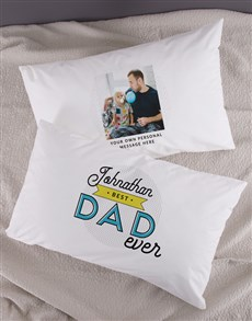 gifts: Personalised Dad Photo Message Pillowcase Set!
