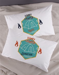 gifts: Personalised Happy Campers Pillowcase Set!