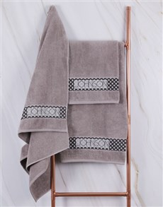 gifts: Personalised Etnic Glam Stone Towel Set!