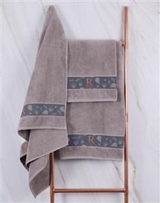 gifts: Personalised Glam Coastal Stone Towel Set!