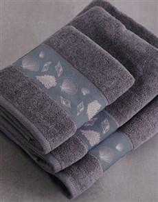 gifts: Personalised Glam Coastal Charcoal Towel Set!
