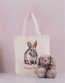 gifts: Personalised Bunny Princess Tote Bag!