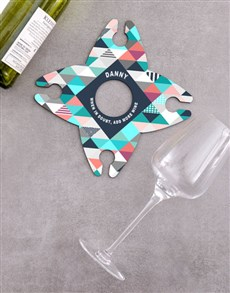 gifts: Personalised Add More Wine Glass & Bottle Holder !