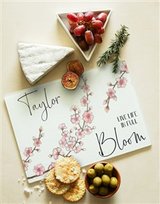 gifts: Personalised Full Bloom Glass Chopping Board!