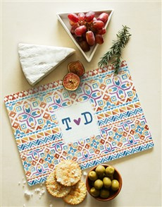 gifts: Personalised Colour Patterns Glass Chopping Board!