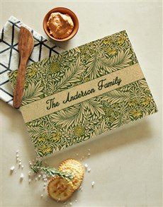 gifts: Personalised Leaf Print Glass Chopping Board!