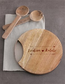 gifts: Personalised Couples Round Chopping Board!