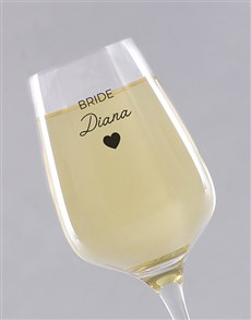 gifts: Personalised Bride Single Wine Glass!