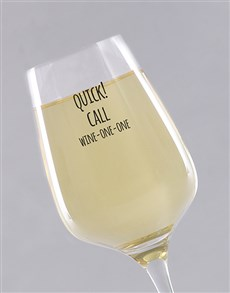 gifts: Personalised Quick Call Single Wine Glass !