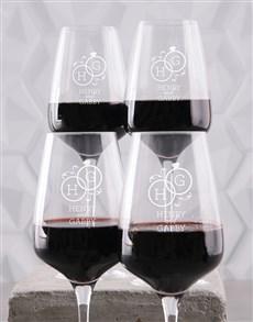 gifts: Personalised Wedding Wine Glass Set!