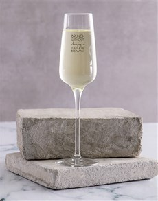 gifts: Personalised Brunch Single Champagne Glass!