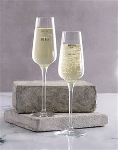 gifts: Personalised All Day Champagne Glass Set!