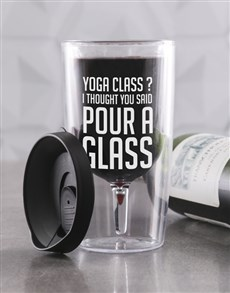 gifts: Personalised Yoga Class Travel Wine Glass!
