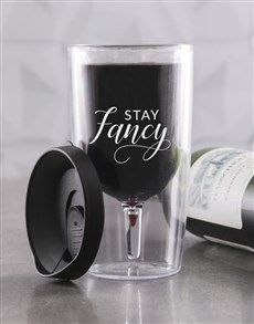 gifts: Personalised Stay Fancy Travel Wine Glass!
