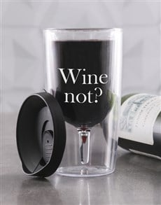 gifts: Personalised Wine Not Travel Wine Glass!