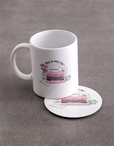 gifts: Personalised Secretaries Day Mug And Coaster Set!