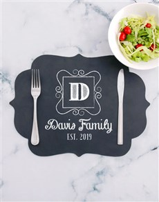 gifts: Personalised Family Chalk Board Placemat!